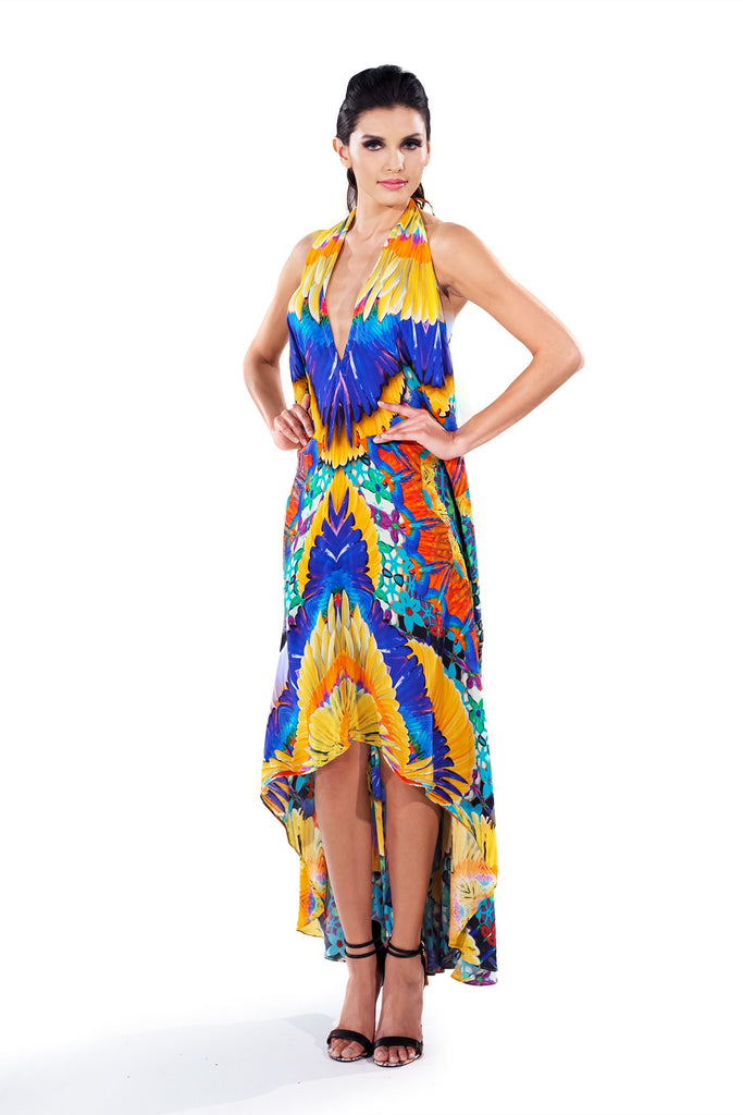 Crochet Papaya Infinity Long 3 Way Dress Parides