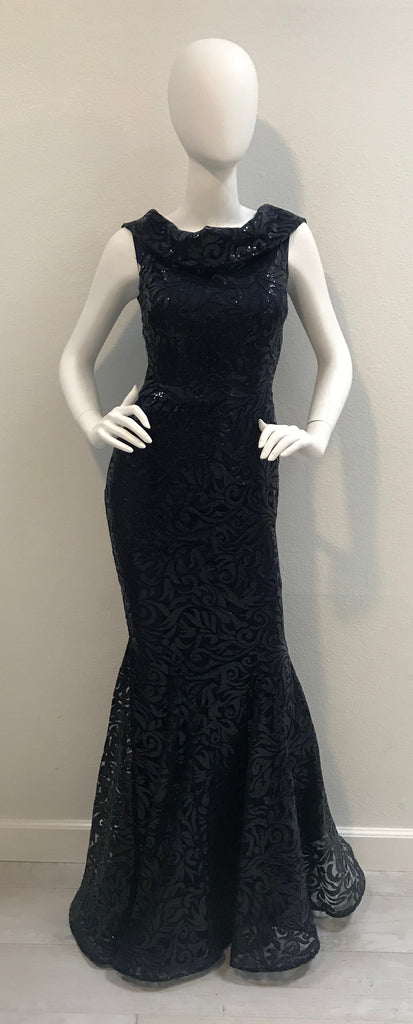 6759 Nicole Bakti Navy Dress