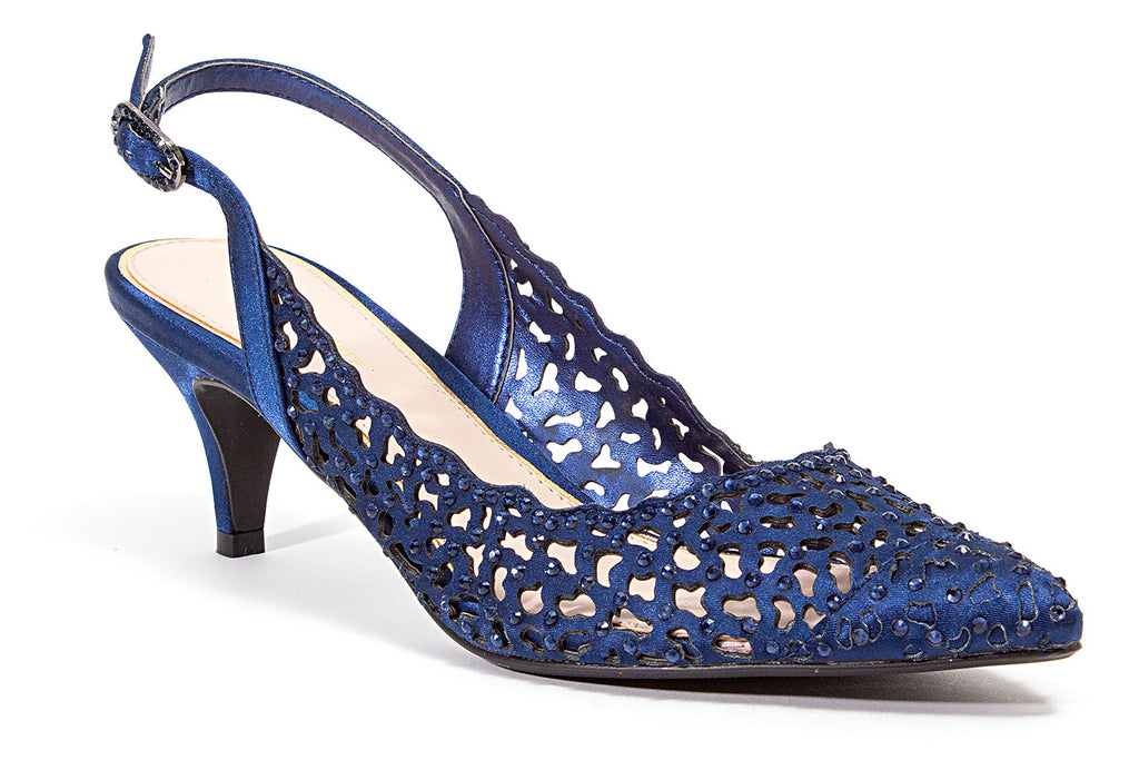JEWEL NAVY LADY COUTURE SHOES