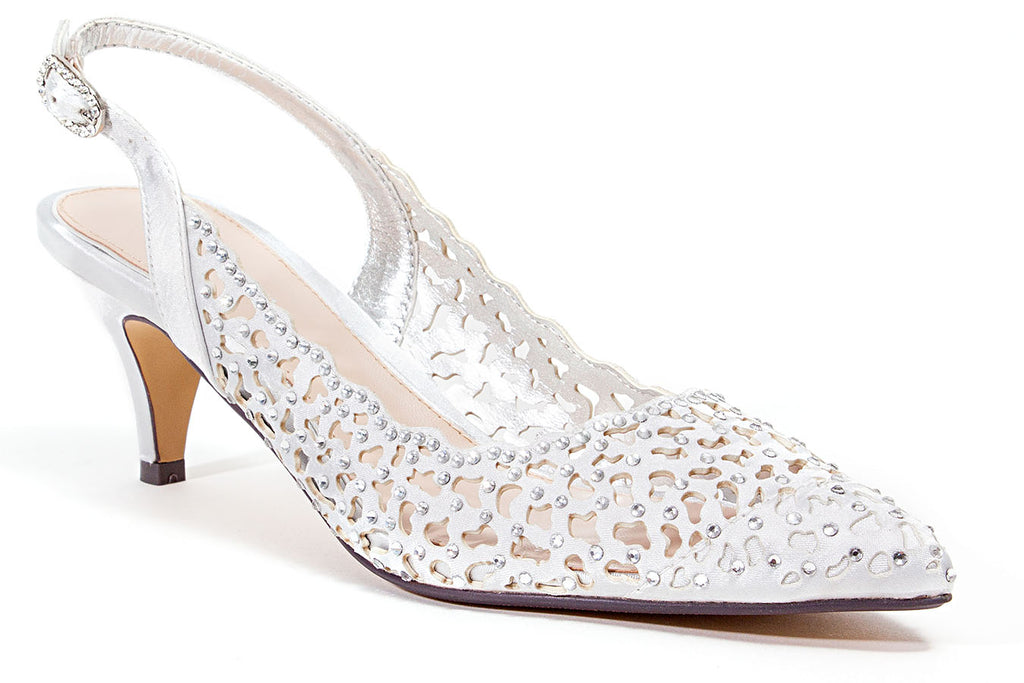 JEWEL SILVER LADY COUTURE SHOES