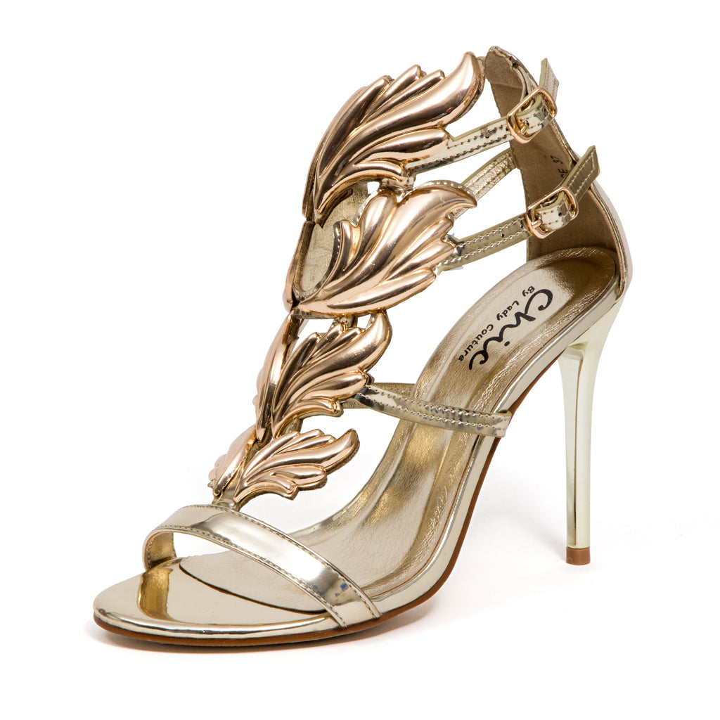 JOYCE GOLD LADY COUTURE SHOES