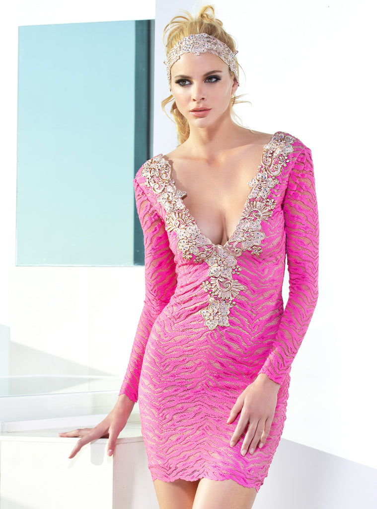 Karla Painted Baccio Couture Short Dress