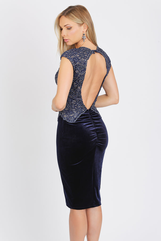 Kate Short Caviar Velvet Baccio Couture Dress