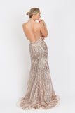 Kony Long Sequin Baccio Couture Gown