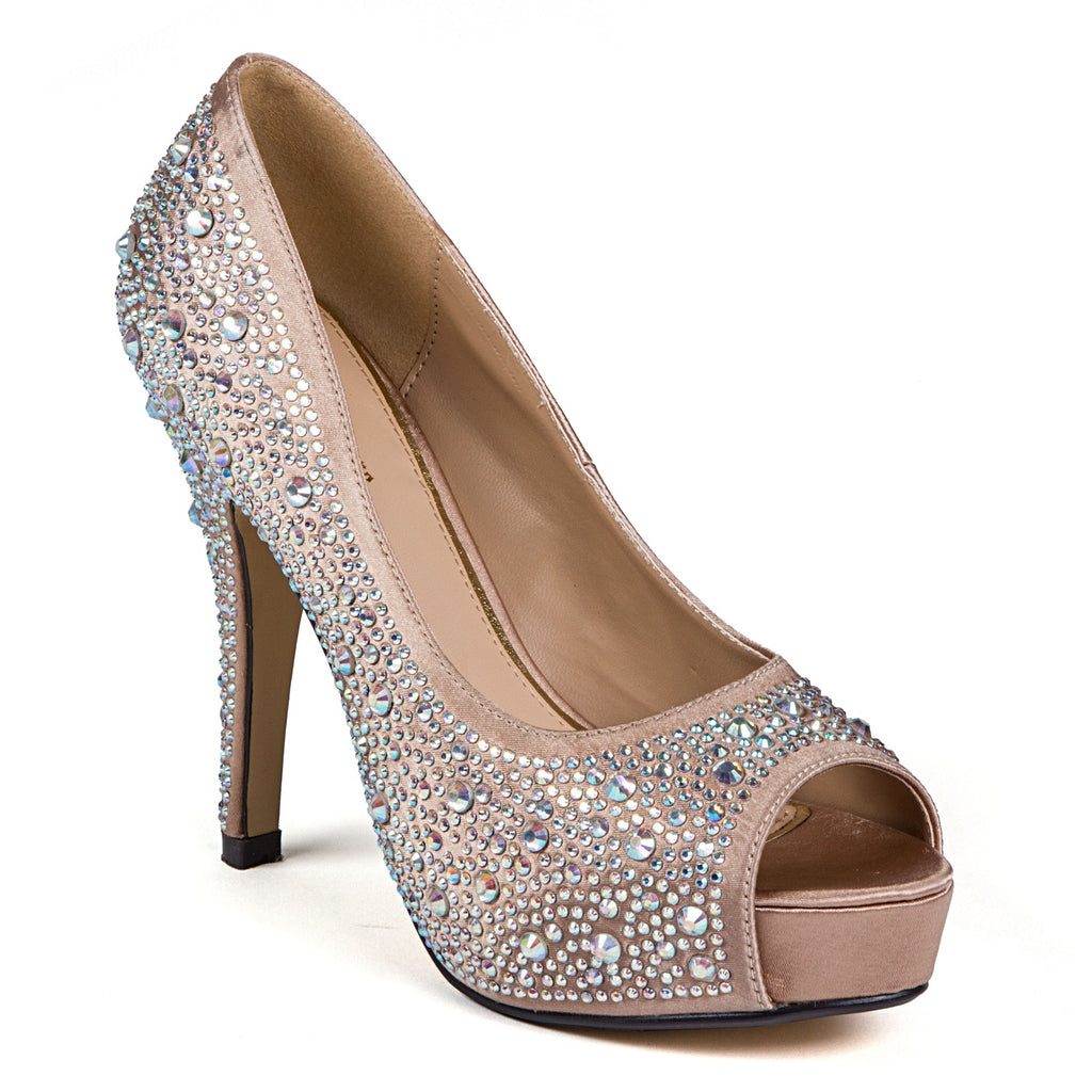 LAUREN CHAMPAGNE LADY COUTURE SHOES