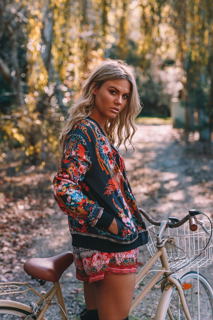 LET YOUR SOUL FLY CZARINA BOMBER JACKET