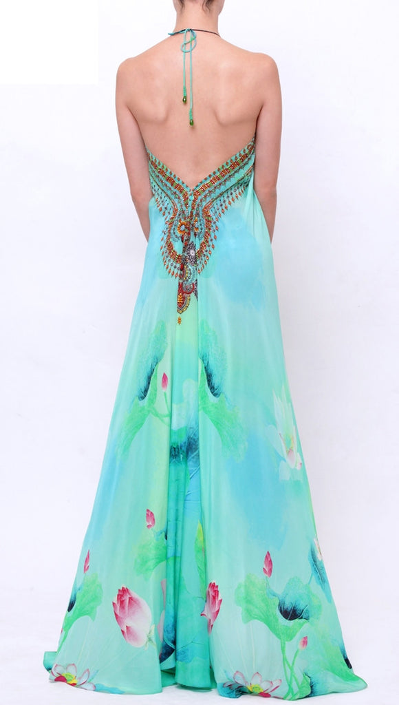 Green Envy Lotus Shahida Parides 3 Way Dress