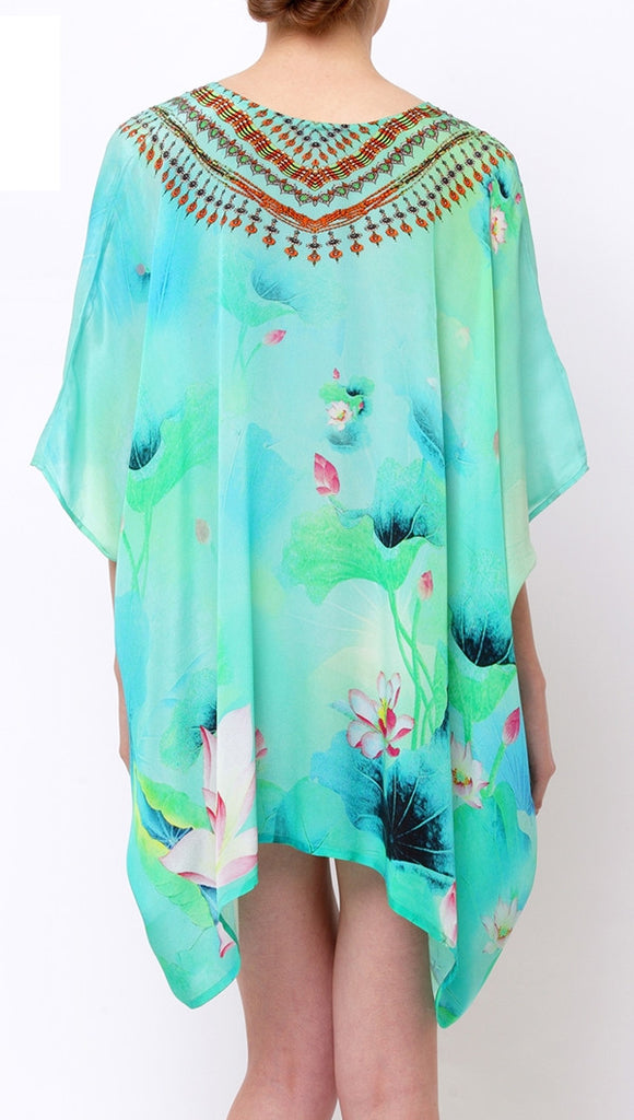 Green Envy Lotus Shahida Parides 4 Way Kaftan