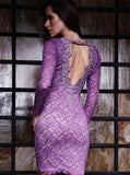 Letty Painted Lace Short Dress Baccio Couture