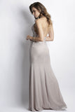 Rina Metallic Lace Beige Baccio Couture Gown