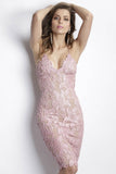 Maluz Caviar Rose Baccio Couture Dress