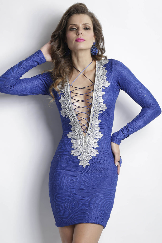 Zelyn Royal Silver Baccio Couture Dress