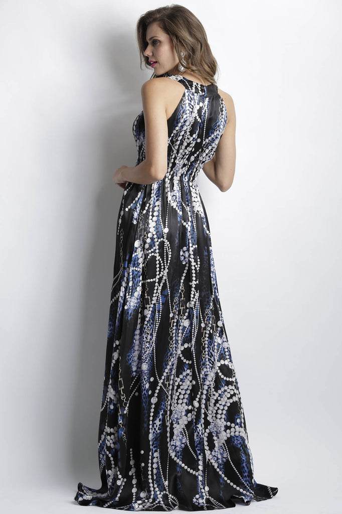 Ambar Silk Pearls Baccio Couture Gown