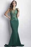 Yuri Emerald Green Baccio Couture Gown