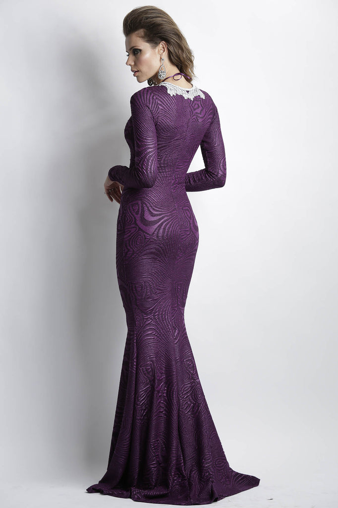 Zelyn Purple Baccio Couture Gown
