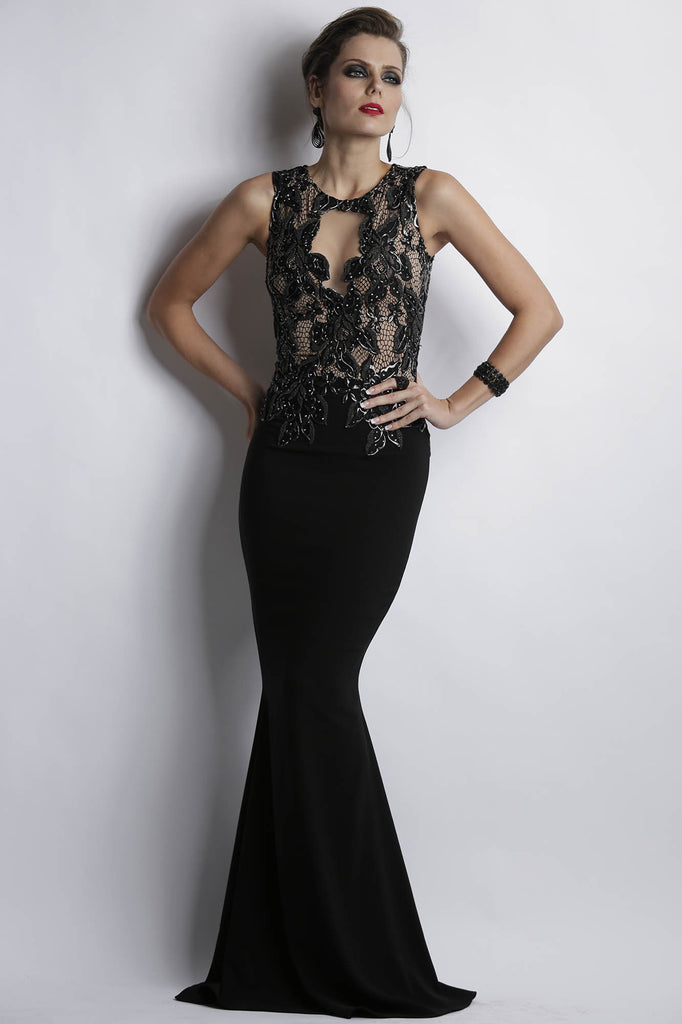 Adriana Black Baccio Couture Gown