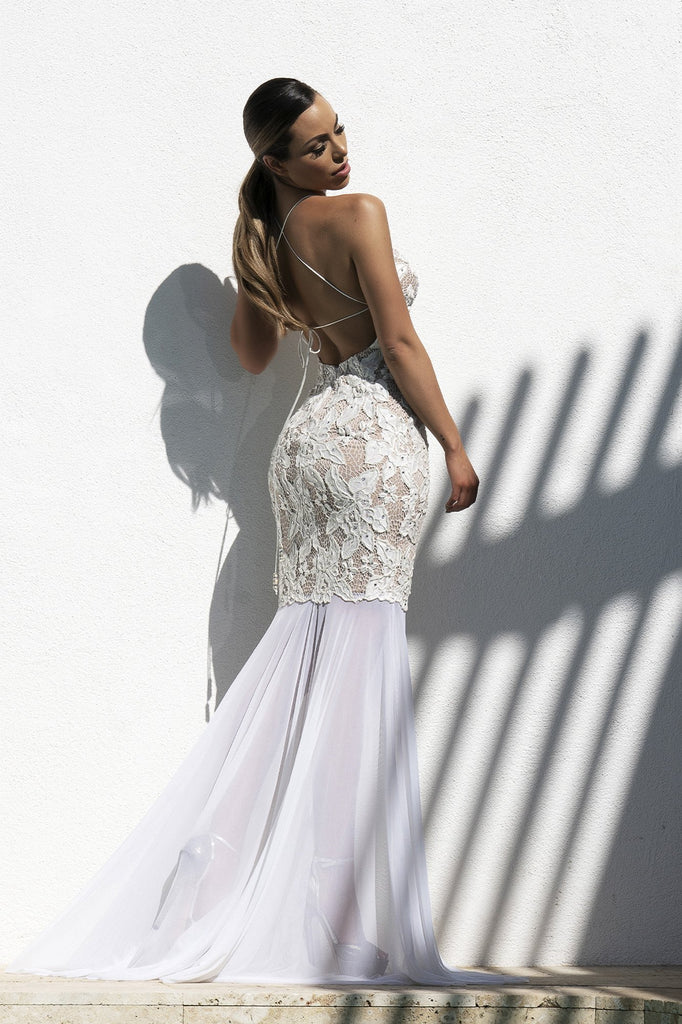 Maluz White Baccio Couture Gown