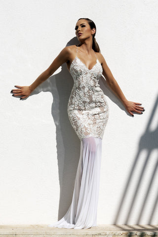 Daniela White Baccio Couture Cover Up