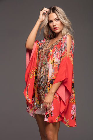 LET YOUR SOUL FLY CZARINA BUTTERFLY TOP W SLIT