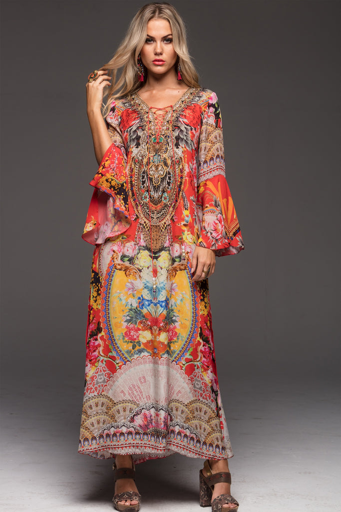 MEET THE FAIRY CZARINA MAXI DRESS W SLEEVES