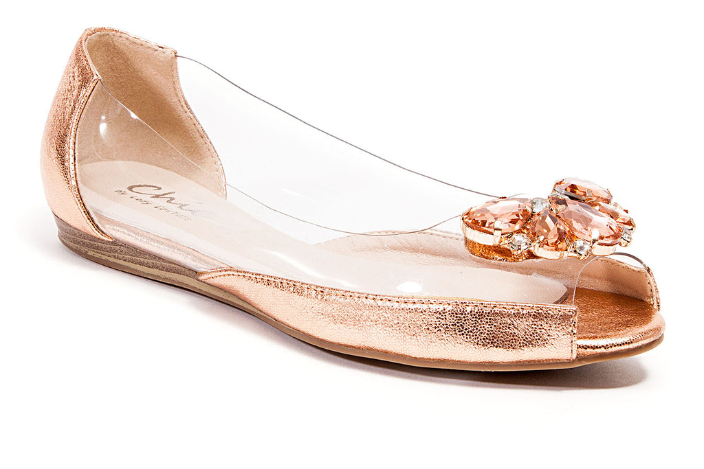MIAMI CHAMPAGNE LADY COUTURE SHOES