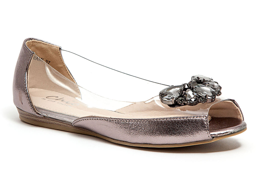 MIAMI PEWTER LADY COUTURE SHOES