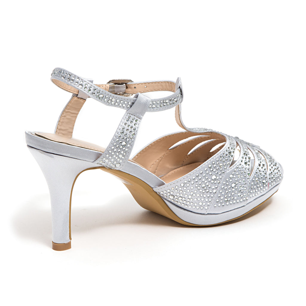 MIDNIGHT SILVER LADY COUTURE SHOES