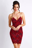Magda Painted Caviar Black Red Baccio Couture Dress