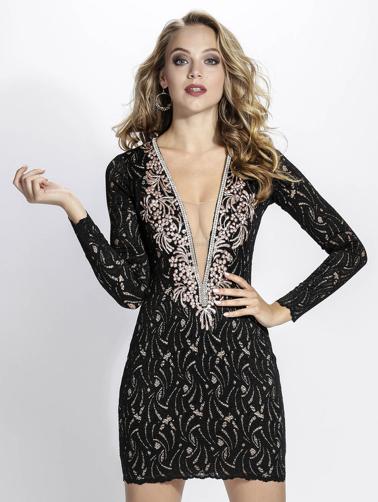 Hellen Black Baccio Couture Lace Dress