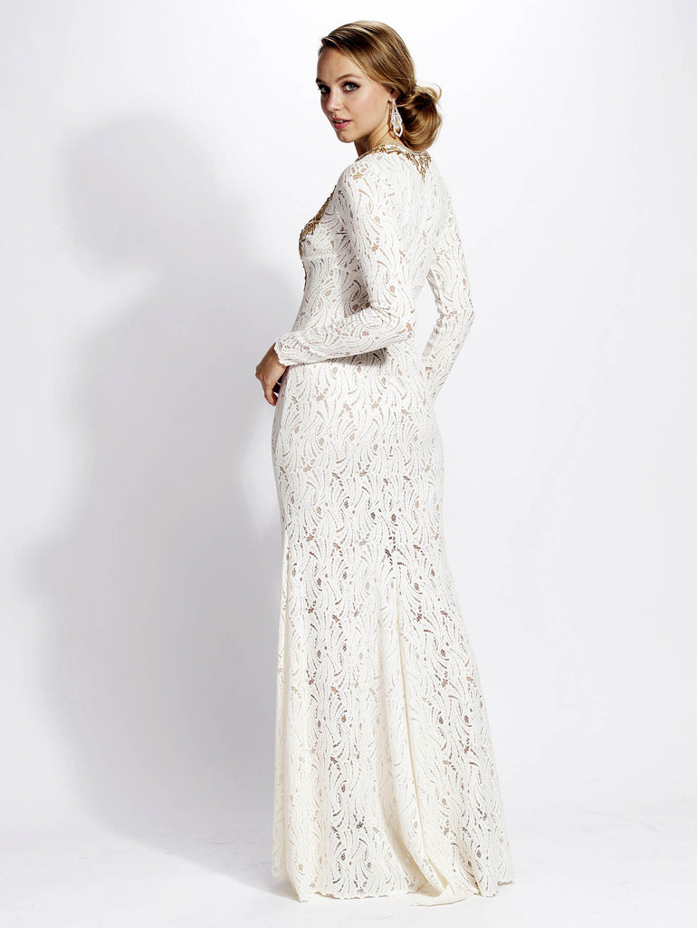 Hellen Painted Lace Baccio Couture Gown