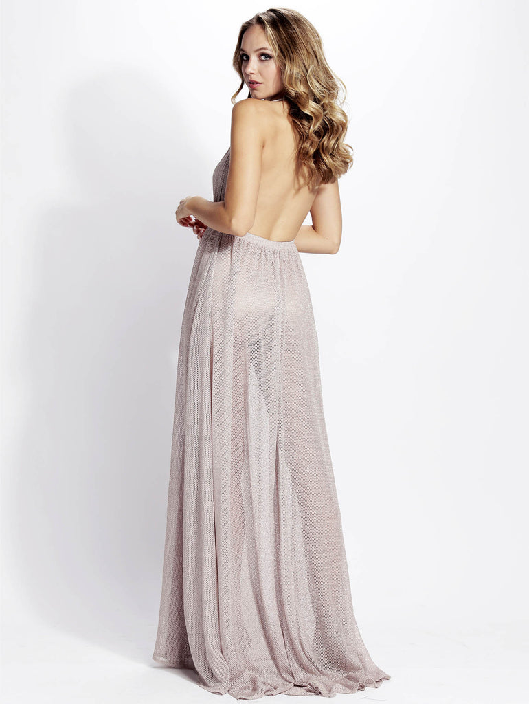 Jacky Blush Cristal Long Baccio Couture Dress