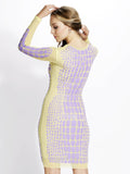 Milena Mesh Painted Baccio Couture Dress