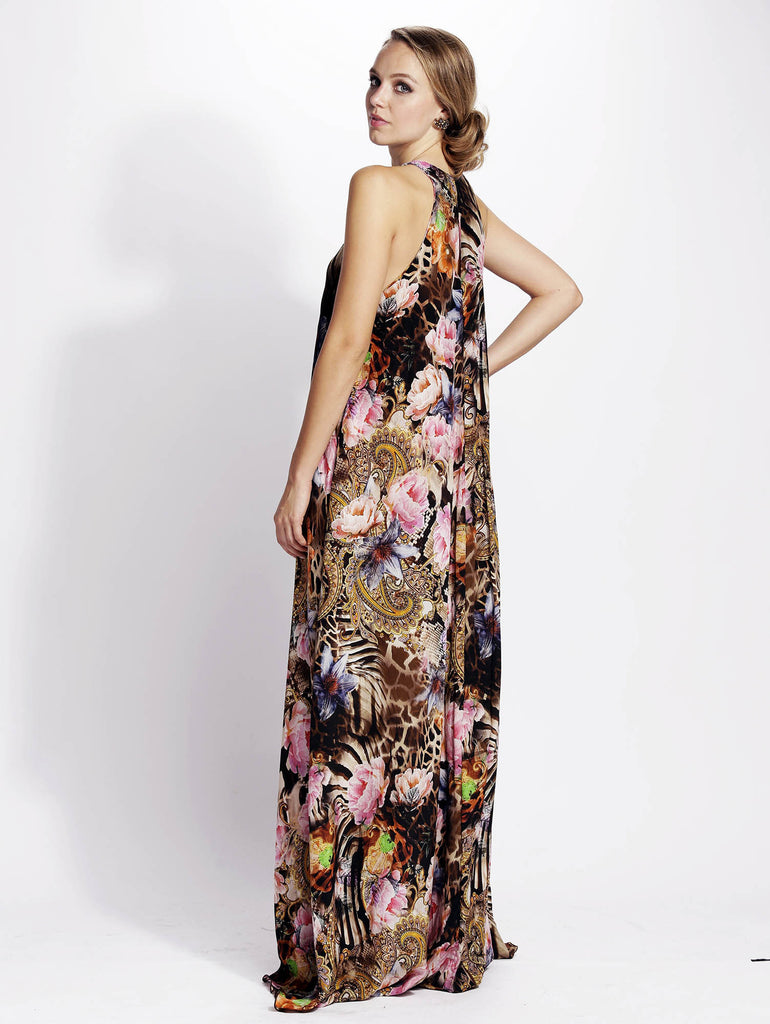 Rocio Silk Long Baccio Couture Dress