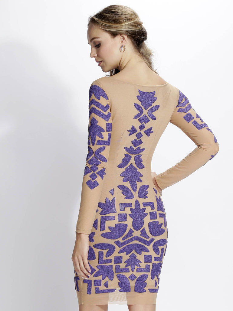 Sade Purple Painted Baccio Couture Dress