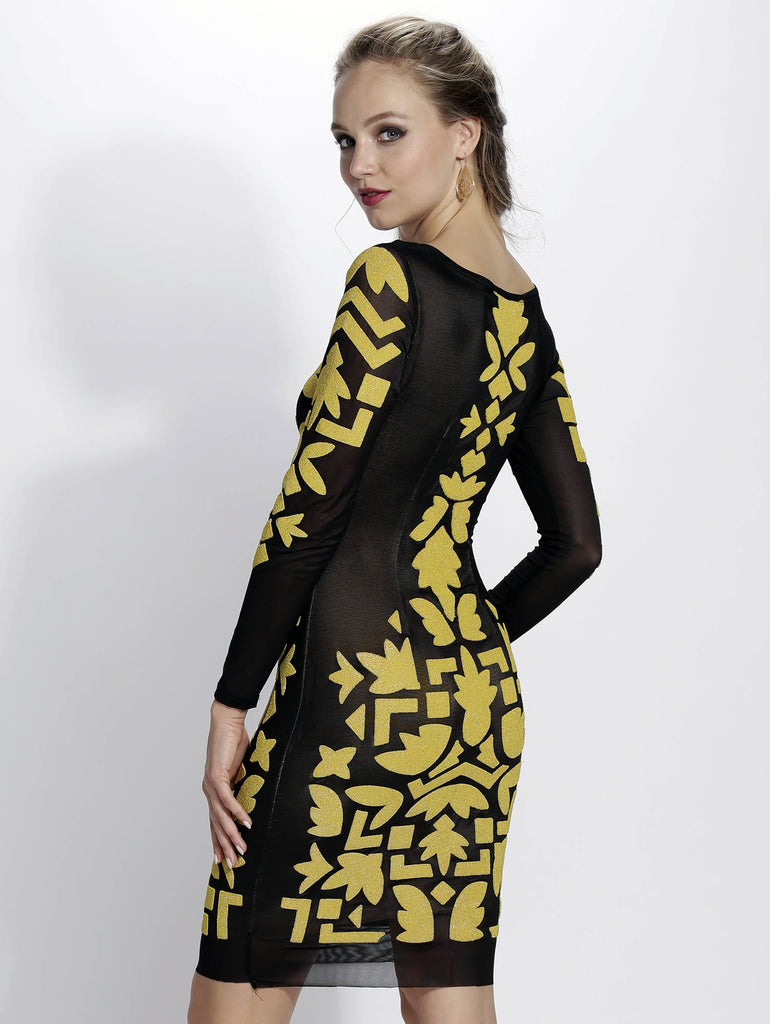 Sade Yellow Gold Painted Baccio Couture Dress