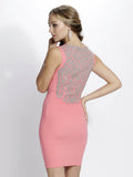 Thalia Coral Nude Baccio Couture Dress