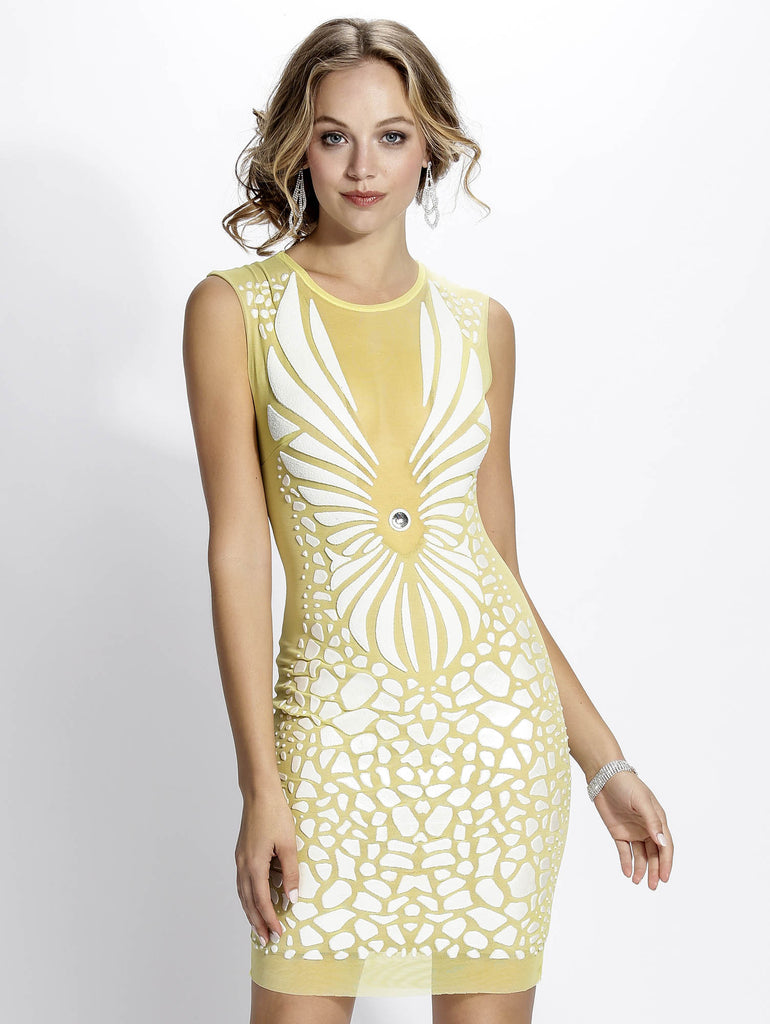 Wings Yellow Baccio Couture Dress