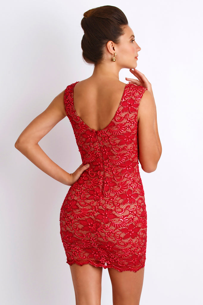 Molly Painted Caviar Red Baccio Couture Dress