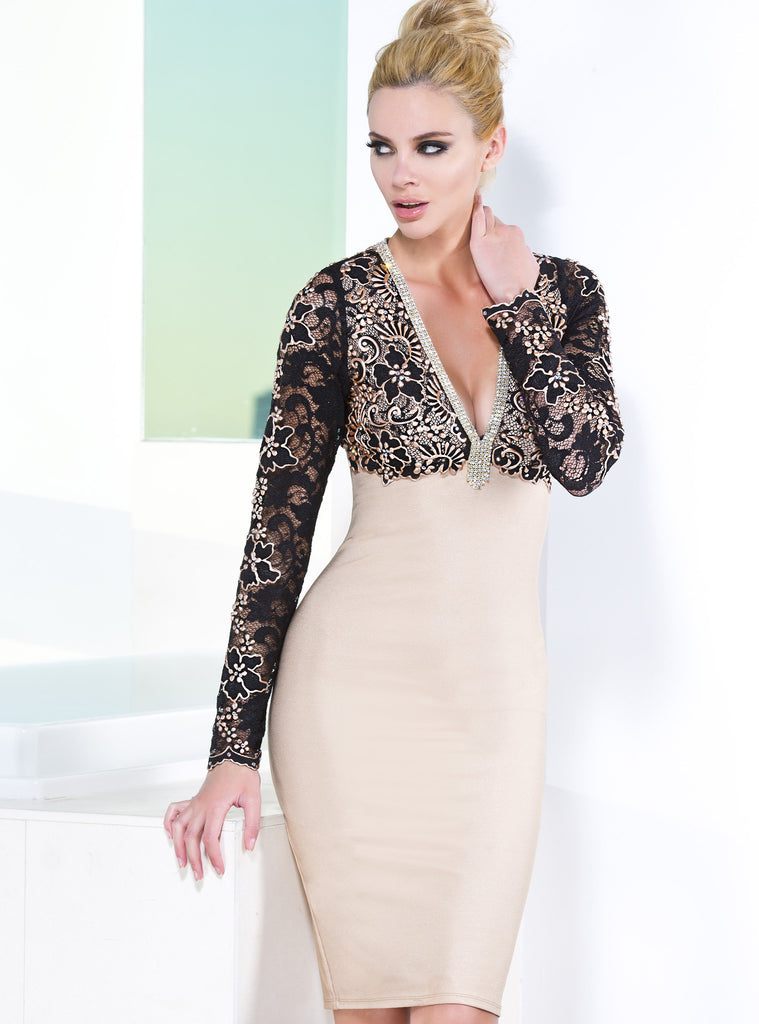 Naty Baccio Couture Bandage Dress