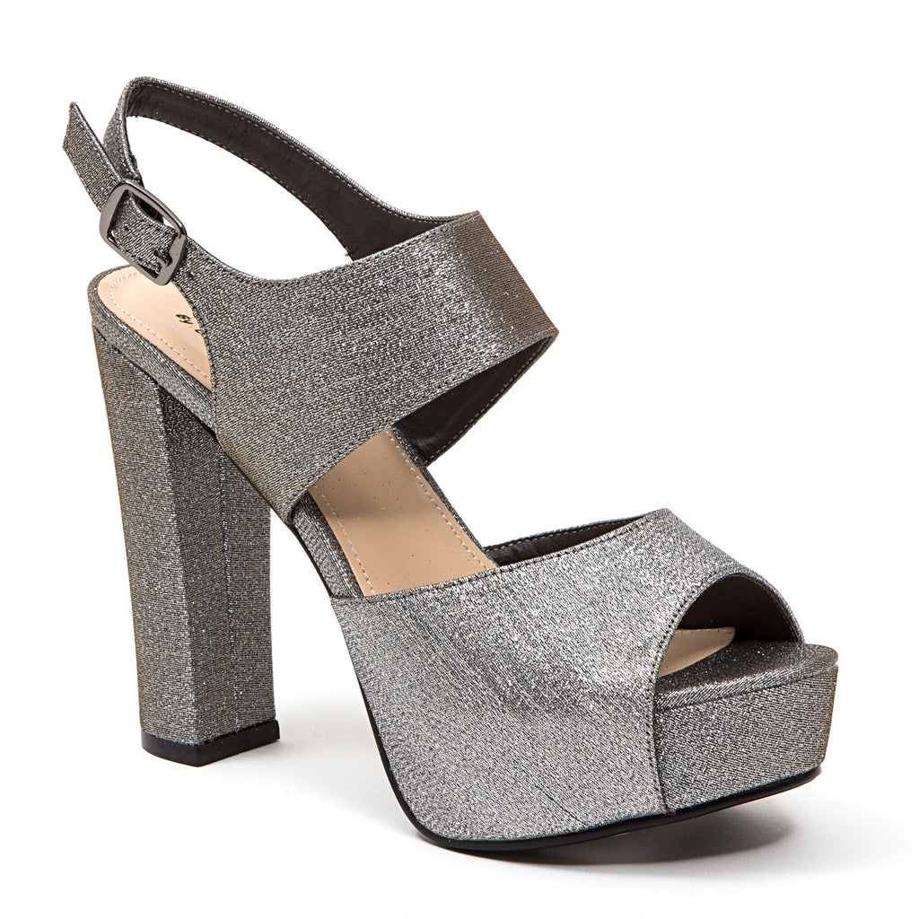 PERLA PEWTER LADY COUTURE SHOES