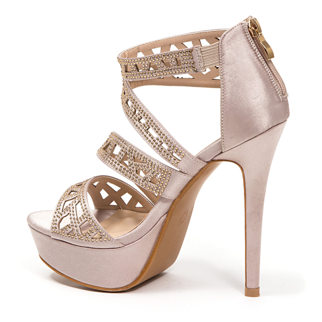 PLEASURE CHAMPAGNE LADY COUTURE SHOES