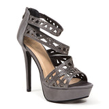PLEASURE PEWTER LADY COUTURE SHOES