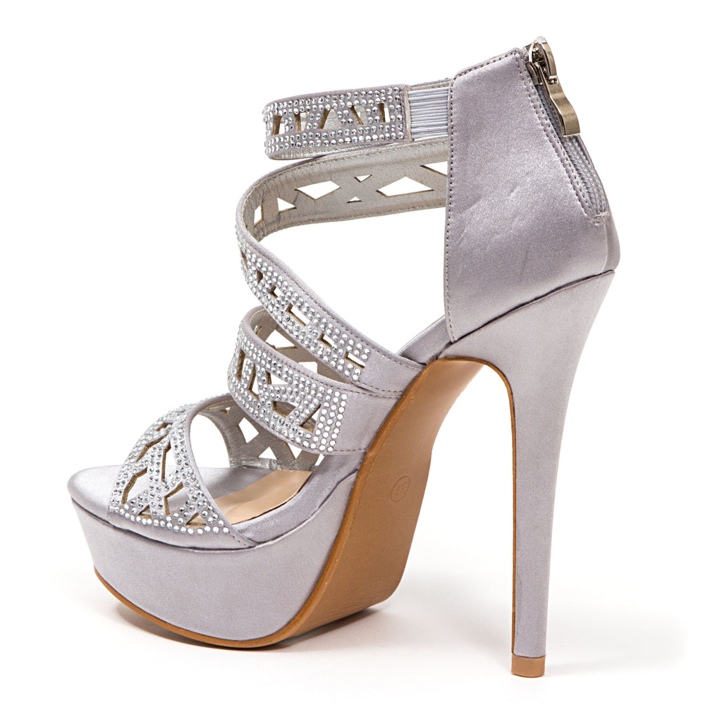 PLEASURE SILVER LADY COUTURE SHOES