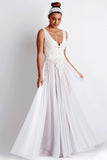 Princess Painted Caviar White Baccio Couture Gown