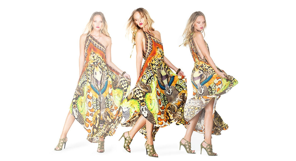 Python Natural Infinity Long 3 Way Dress Shahida Parides