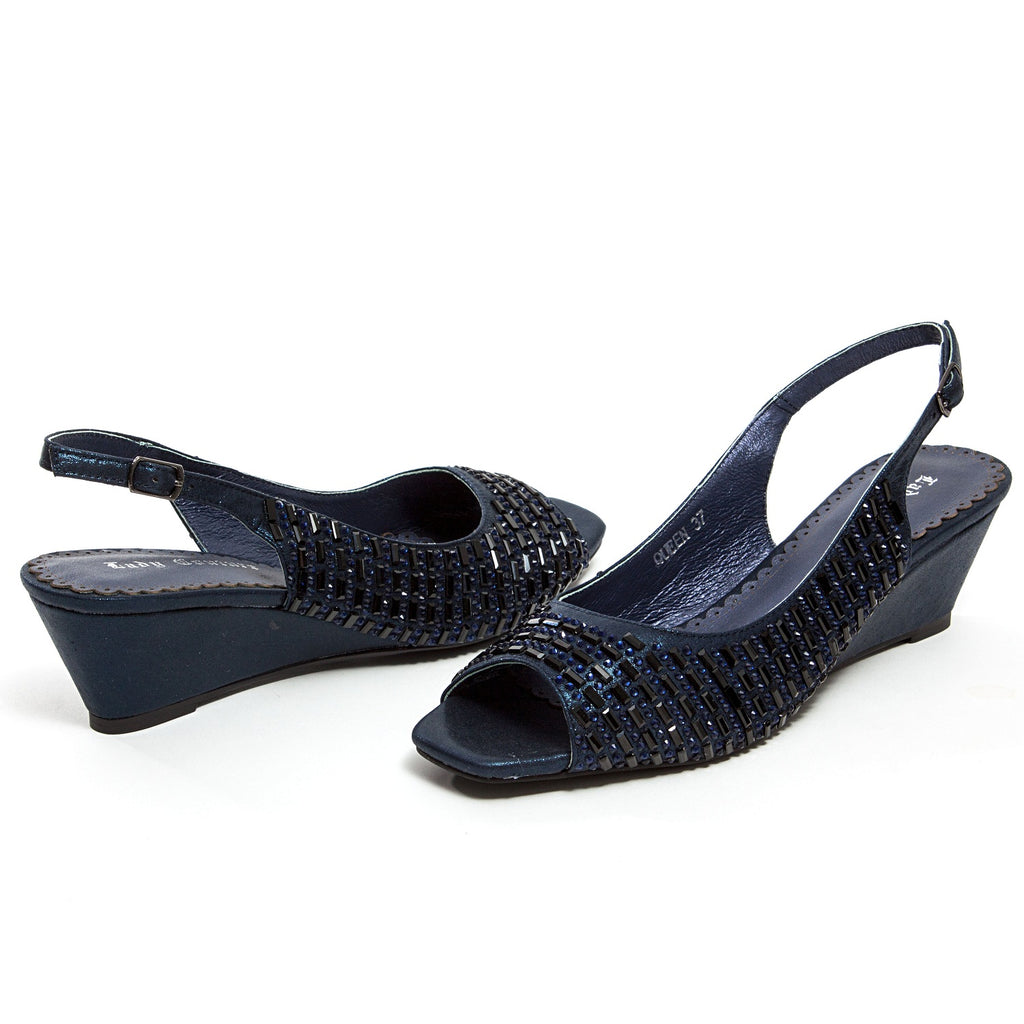 QUEEN NAVY LADY COUTURE SHOES