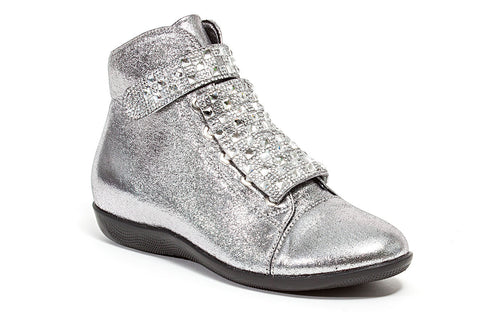 ZIPPY PU GREY LADY COUTURE SHOES