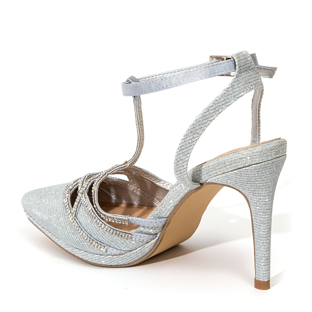 ROYAL SILVER LADY COUTURE SHOES