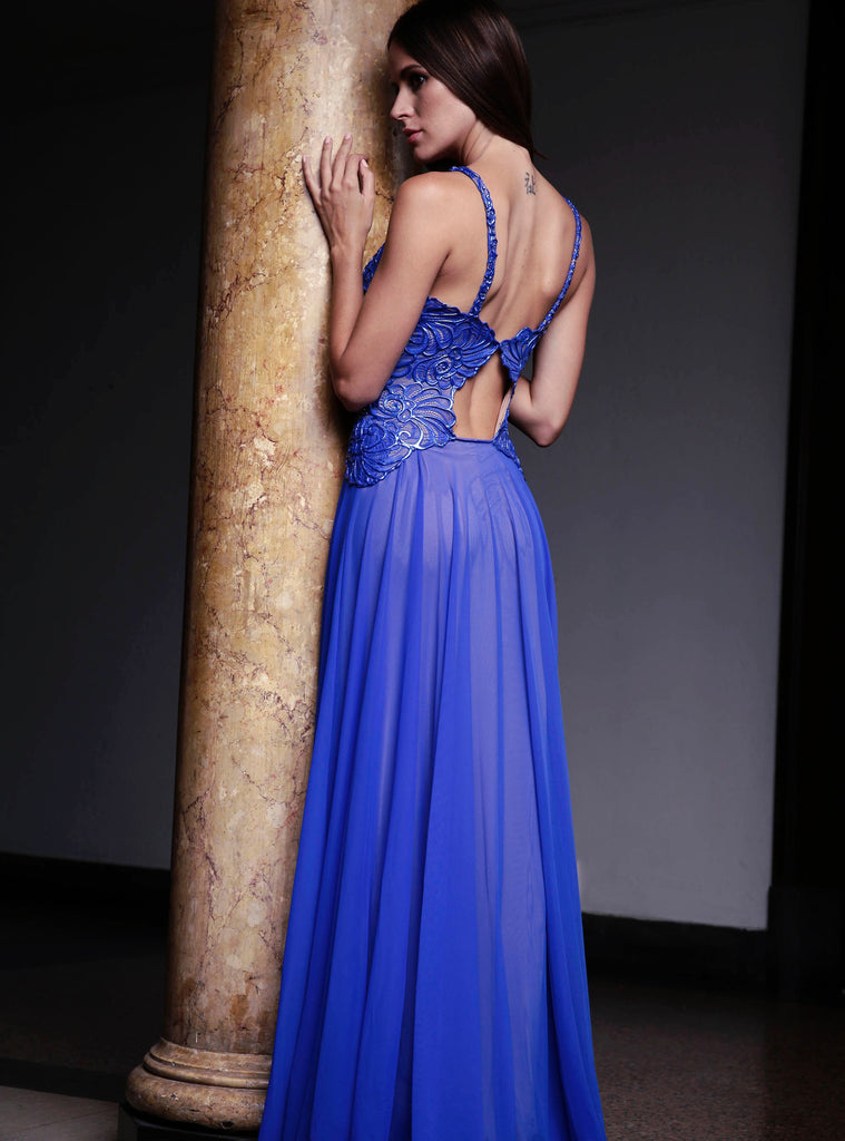Rebecca Painted Long Dress Baccio Couture