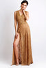 Romina Painted Lace Gold Baccio Couture Gown